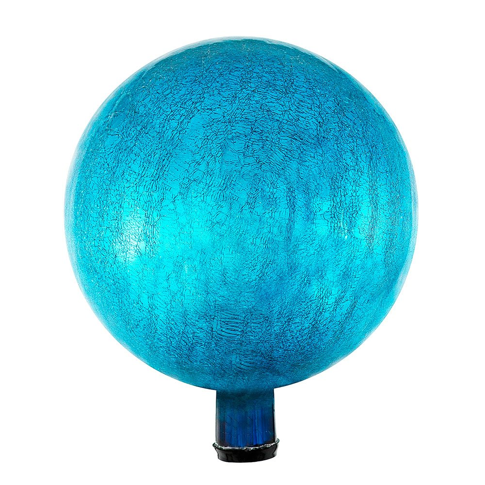 Achla Designs 12-Inch Crackle Gazing Globe Ball, Teal