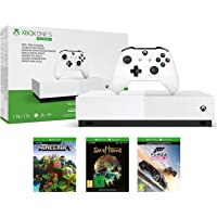 Microsoft Xbox One S 1TB All Digital Edition Console with Minecraft, Sea of Thieves and Forza Horizon 3 + Extra Controller