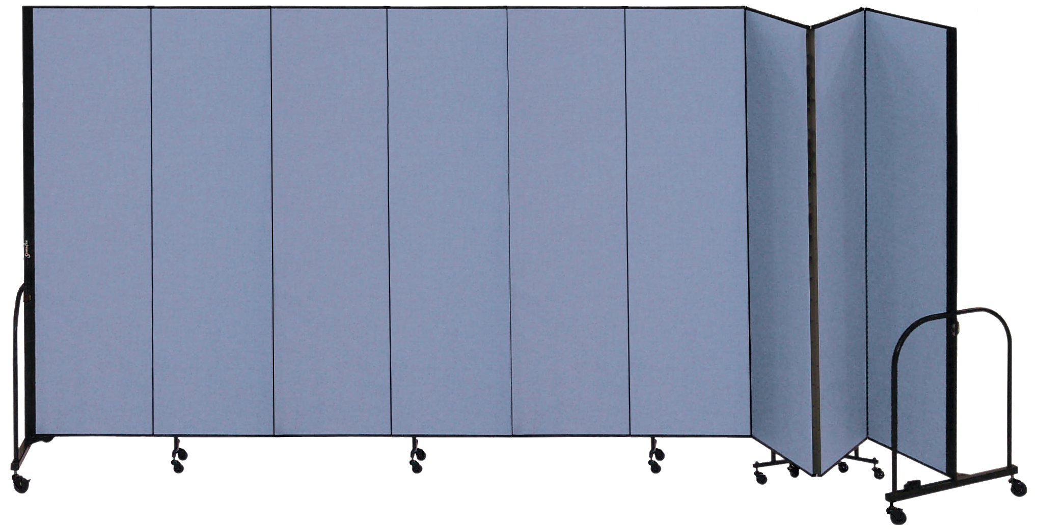 Screenflex Commercial Portable Room Divider (CFSL689-DB) 6 Feet 8 Inches High by 16 Feet 9 Inches Long, Designer Lake Fabric