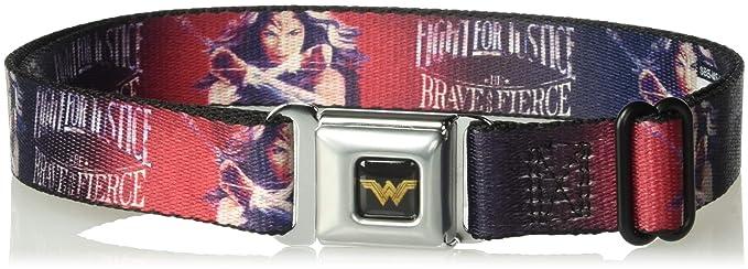 7428660c Amazon.com: Buckle-Down Men's Seatbelt Belt Kids, wonder Woman ...