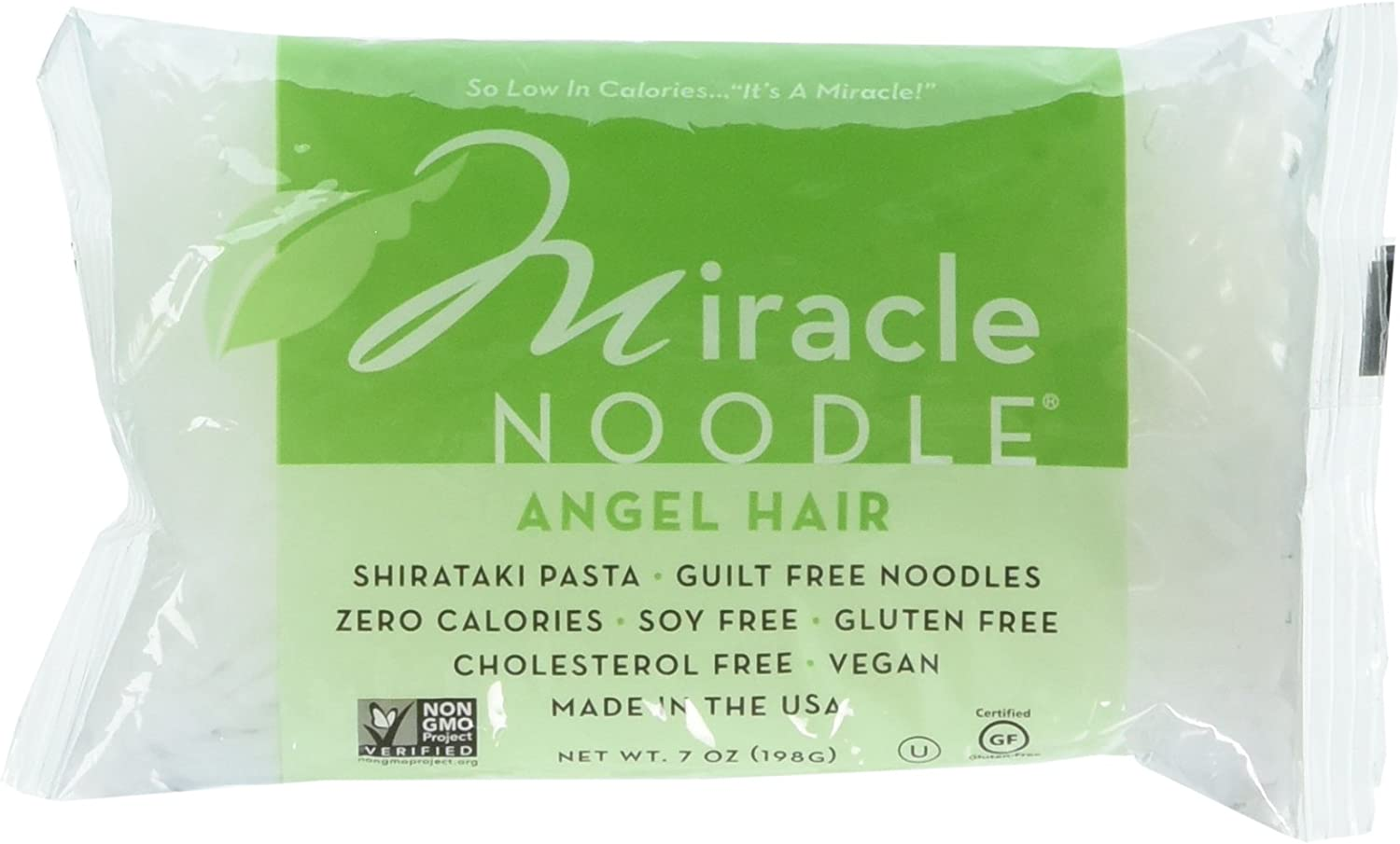 Miracle Noodle Shirataki Angel Hair Gluten Free - 7 oz