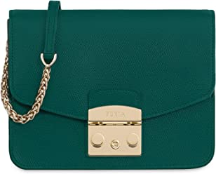 7ba950dfae42 Furla Metropolis Ladies Small Green Cipresso Leather Crossbody 978089