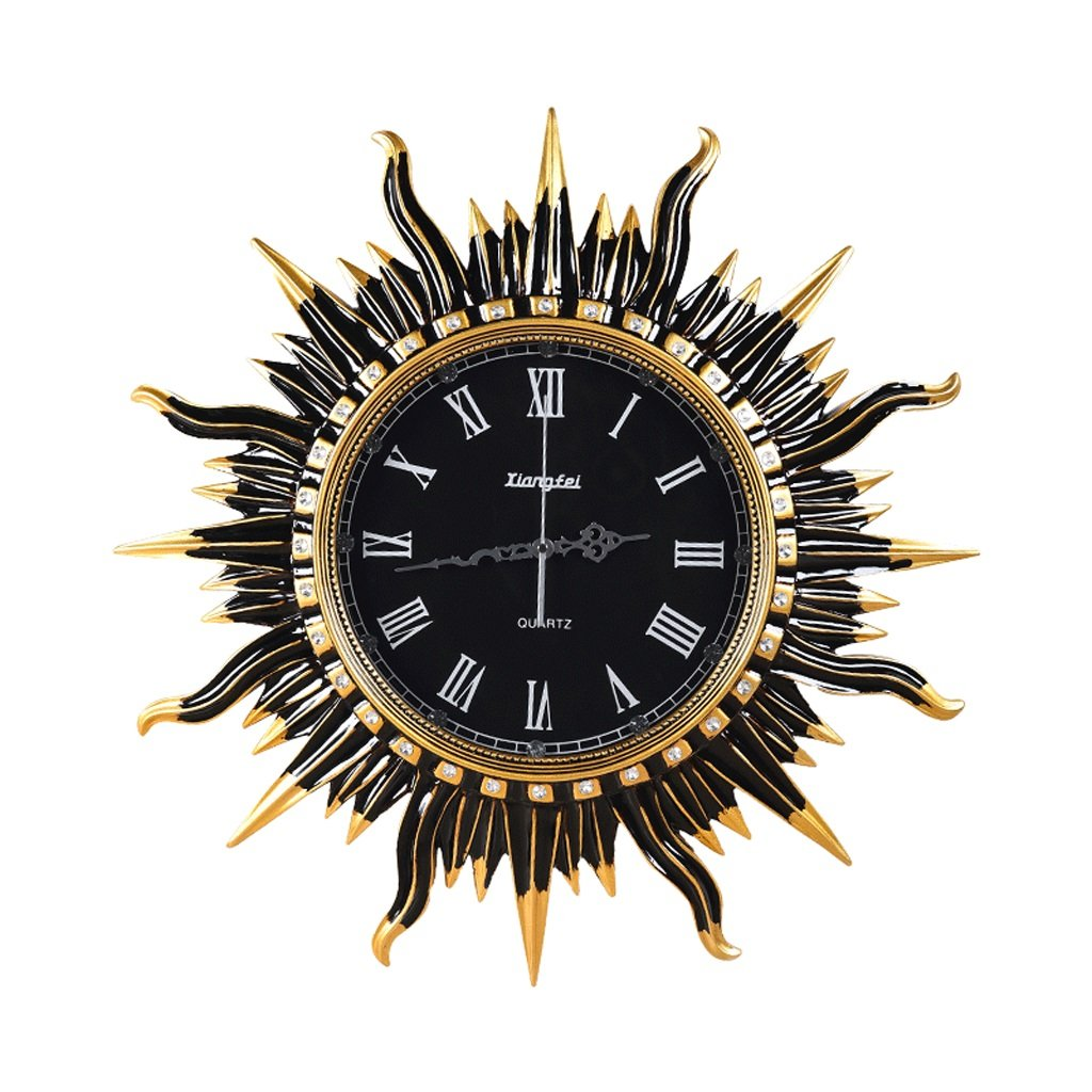 ウォールクロック 創造的なヨーロッパのレトロ壁の装飾の壁時計リビングルーム円形の太陽の芸術の壁時計ミュート時計の時計 (色 : B, サイズ さいず : 20 inches) B07DJ2PDB2 20 inches|B B 20 inches