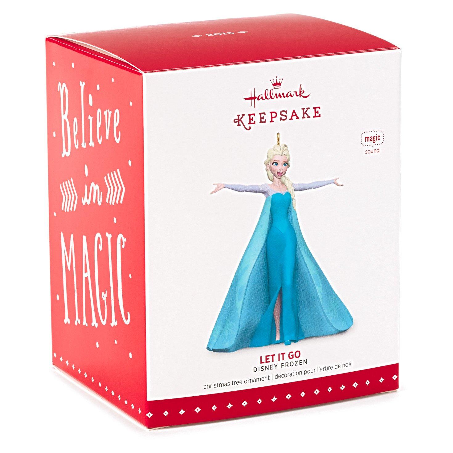 Amazoncom Hallmark Keepsake Ornament Disney Frozen Let It Go Queen