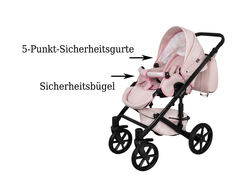 ST1 Kinderwagen Babywagen Kombikinderwagen Zeo Storm 3in1 Komplettset mit Zubeh/ör KEIN CHINA PRODUKT 0-3 Jahre 0-15 kg Insektenschutz Einkaufstasche Regenschutz Buggy Autositz