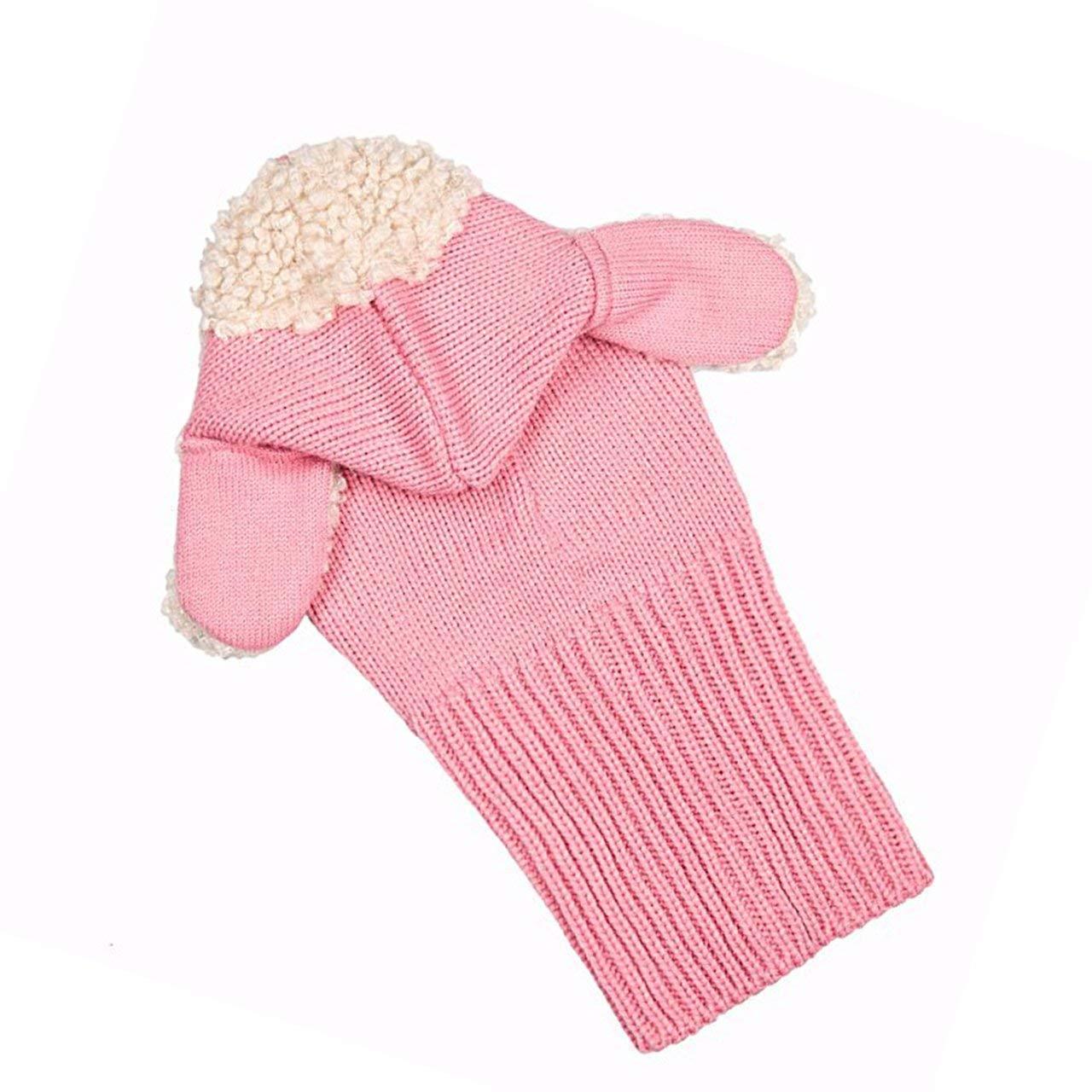 Sefon/_Bwomen Inverno Bambini delle Ragazze dei Neonati Caldi Coif Lana Berretti Sciarpe Cappelli Cappuccio