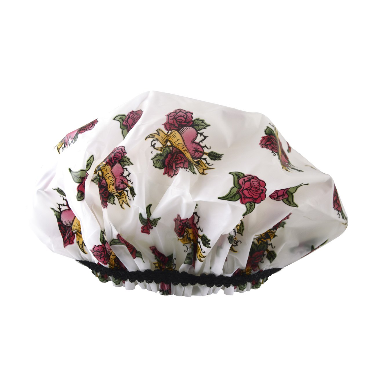 Betty Dain Stylish Design Mold Resistant Shower Cap, The Hipster Colle Countion, Tough Love 5170