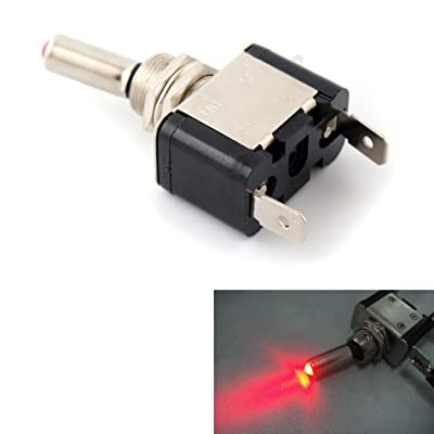 Red 12V 20A LED Lighted Toggle Switch Rocker ON OFF Car Truck ATV Airplane: Automotive