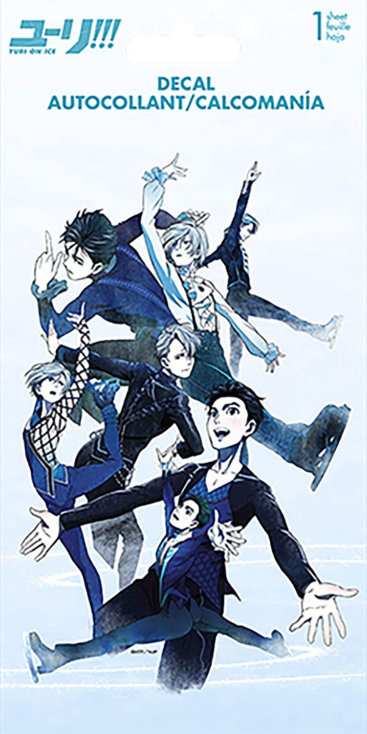 Trends International Yuri On Ice 4 Color Decal 4 X 8