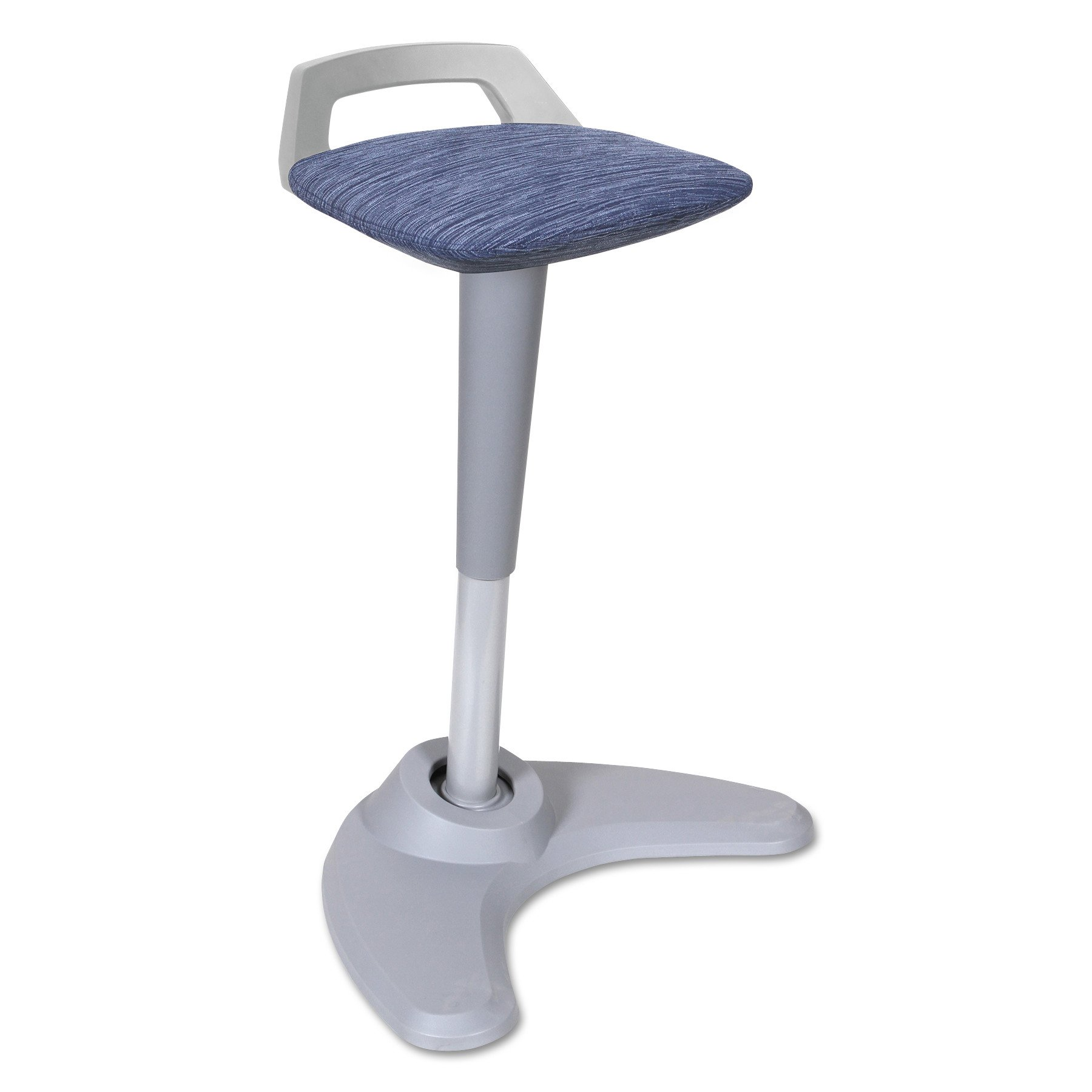 Alera ALEAE36PSBU AdaptivErgo Sit to Stand Perch Stool, Blue with Silver Base by Alera