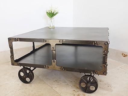 Industrial Urban Loft muebles Metal lado de café mesa carro de ...