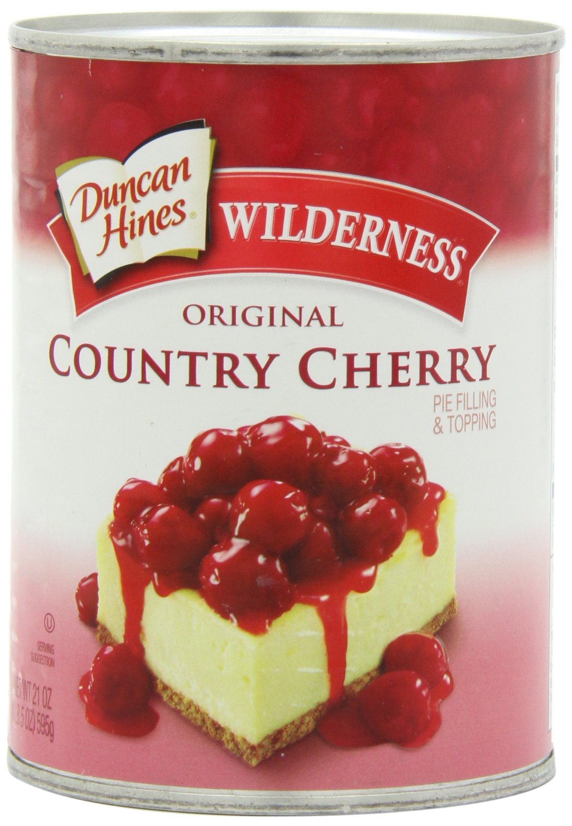 Wilderness Original Country Cherry Pie Filling and Topping, 21-Ounce (Pack of 6)