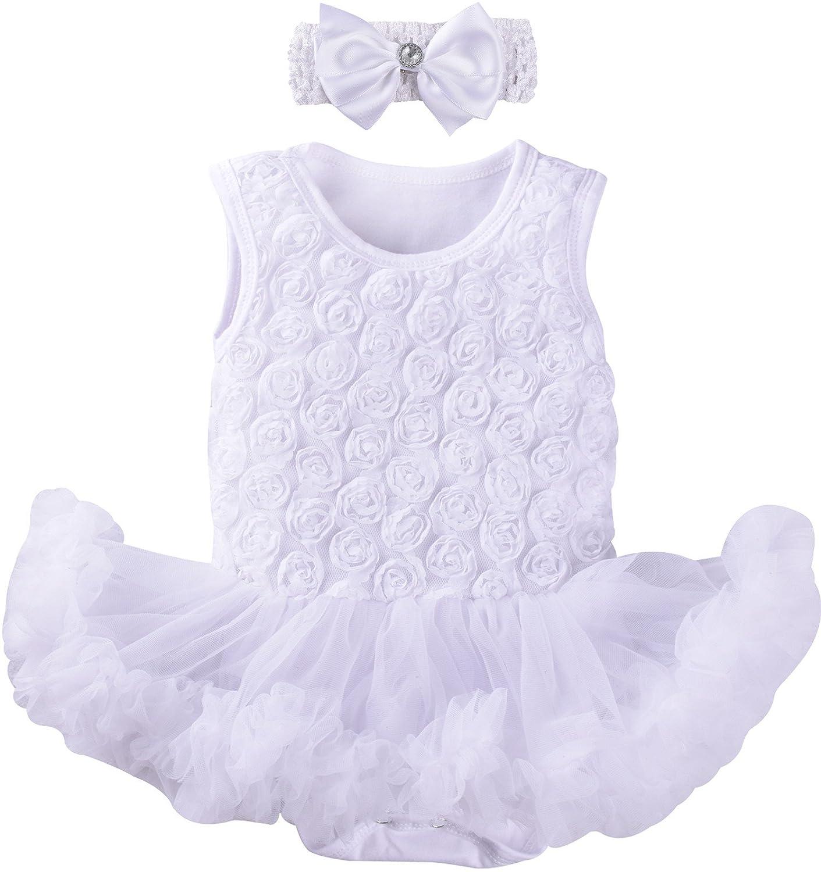ZOEREA 2pcs imposta abito abito gonna neonata appena nata pagliaccetto tutu romper + fascia estate abiti(3-18 mesi) YS1595