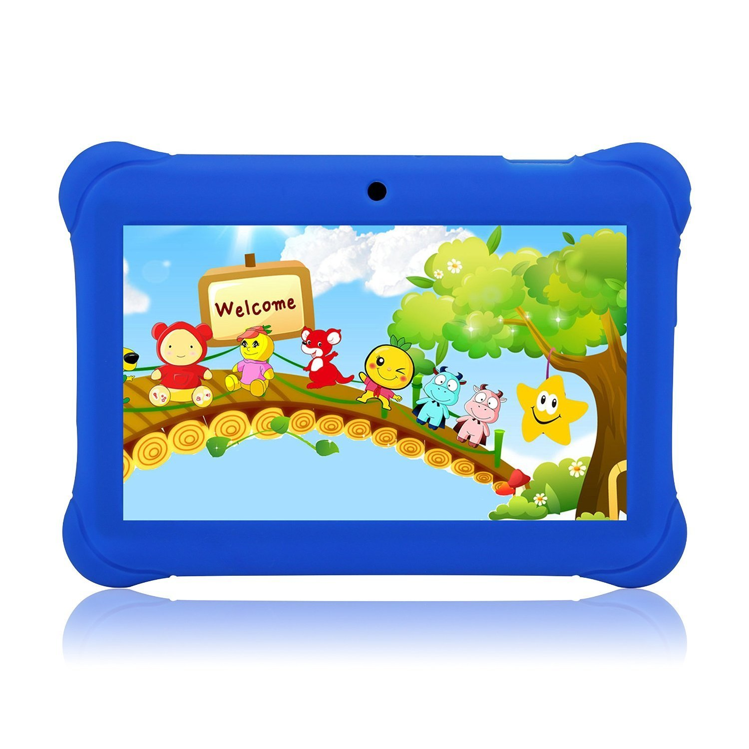 Tagital 7 T7K Quad Core Android Kids Tablet, with Wifi and Camera and Games, HD Kids Edition with Kid Mode Pre-Installed (Blue)