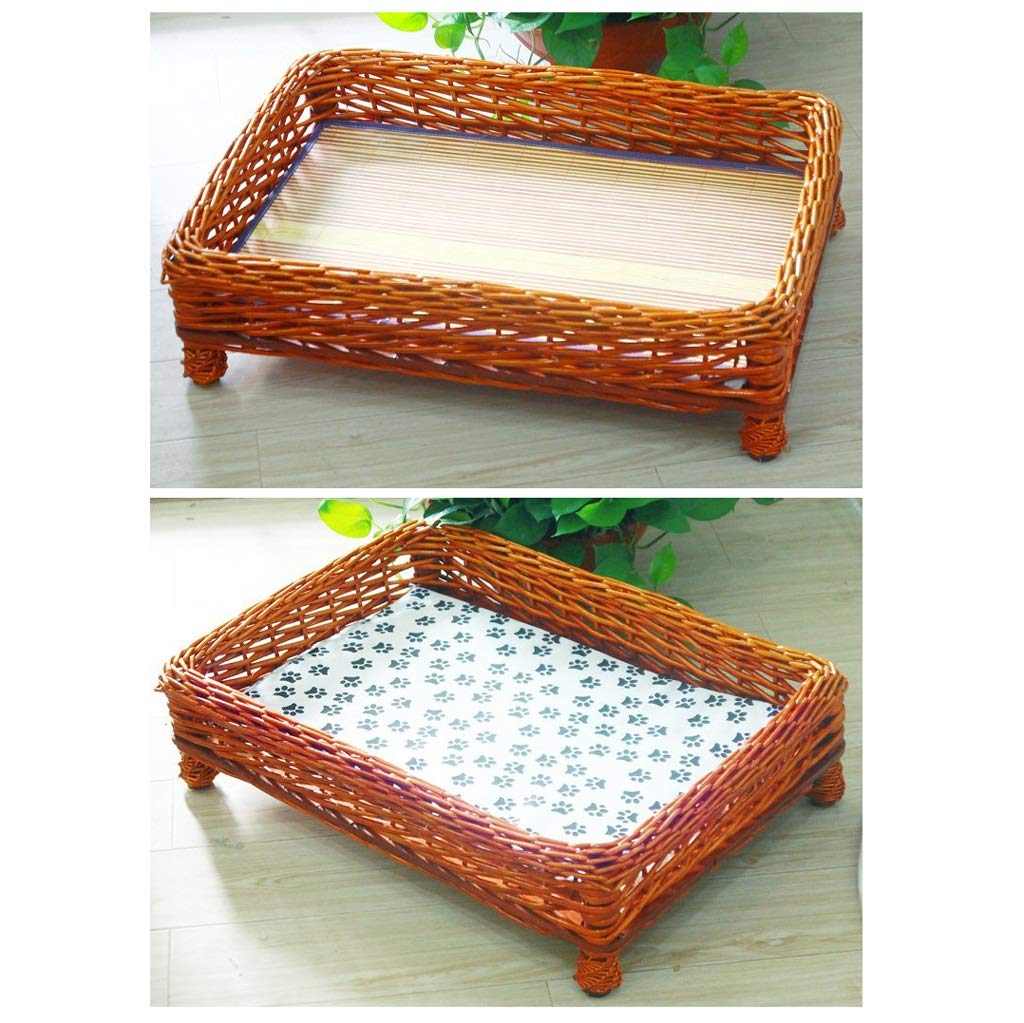 B XS B XS JIANXIN Pet Nest, Rattan Cat nest, Dog Bed, Suitable of Cats, Four Seasons Universal (Three colors, Four Sizes) (color   B, Size   XS)