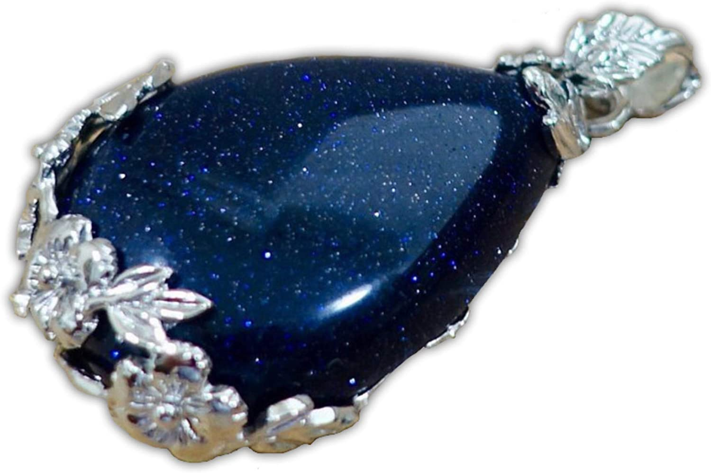 Galactikonsciousness Pendant Goldstone Meditation Reiki Prayer Yoga Handmade Gift Crystal Healing Natural Quartz Chakra