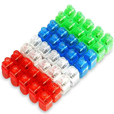 Novelty Place LED Finger Lights 40 Pack Bright Party Favors Party Supplies for Holiday Light up Toys Assorted Color: Home & Kitchen