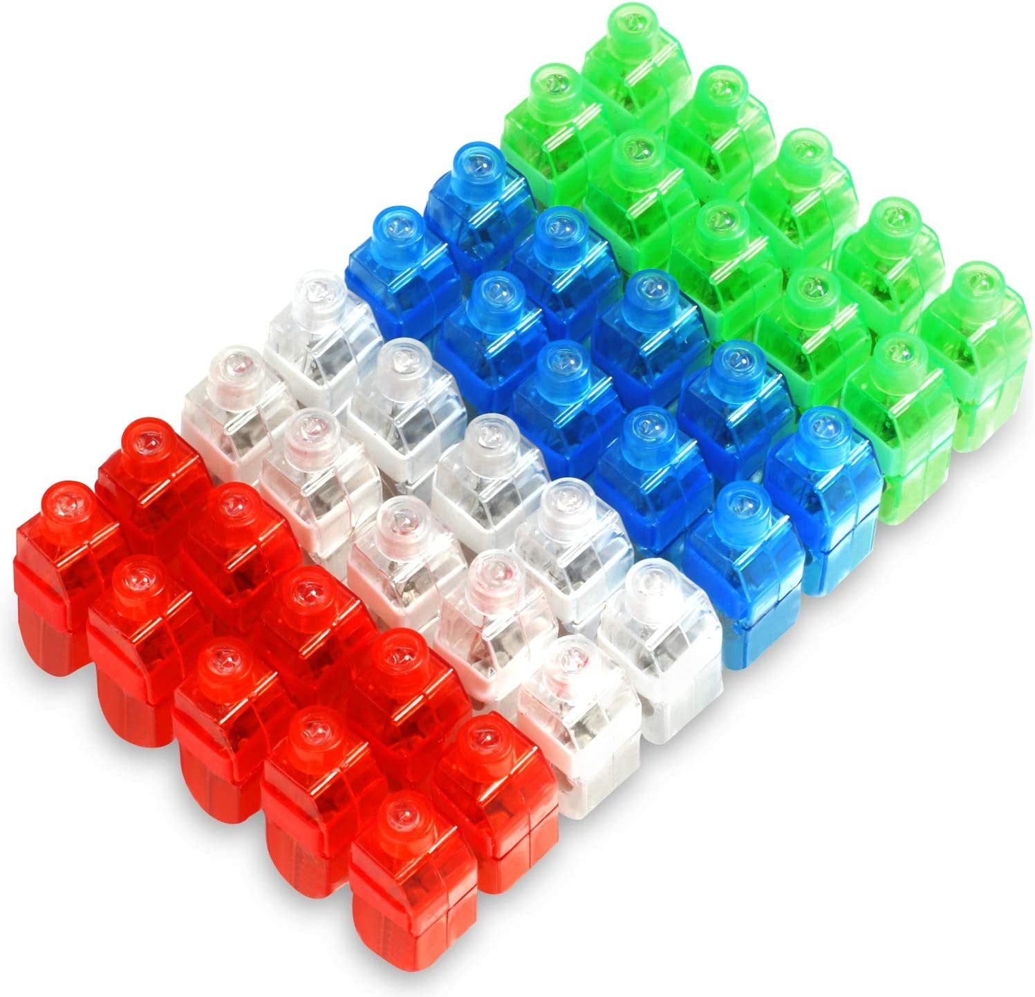LED Finger Lights 100 Pack Finger Ring Glow Sticks for Kids Adults Bright Party Favors Party Supplies for Holiday Light up Toys Assorted Color