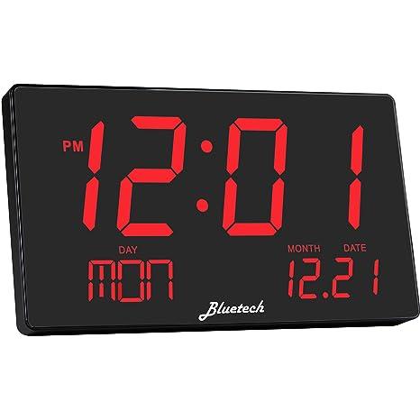 Avalon Clock- Digital LED de Gran Tamaño Extra Grande Pantalla Dígitos de 3 Pulgadas,