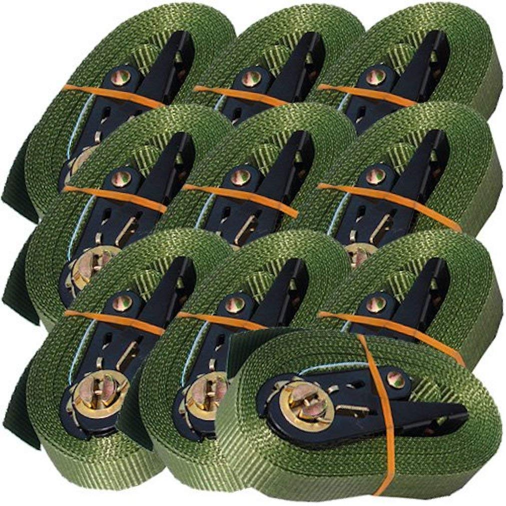 10 Couleur olive avec cliquet charge max. 800 kg noir 4 m timtina 23788834