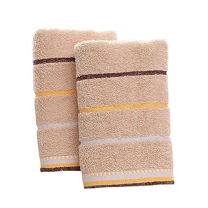100% algodón PLAIN Juego De Toallas para mujer hombre cara toallas de mano, 2