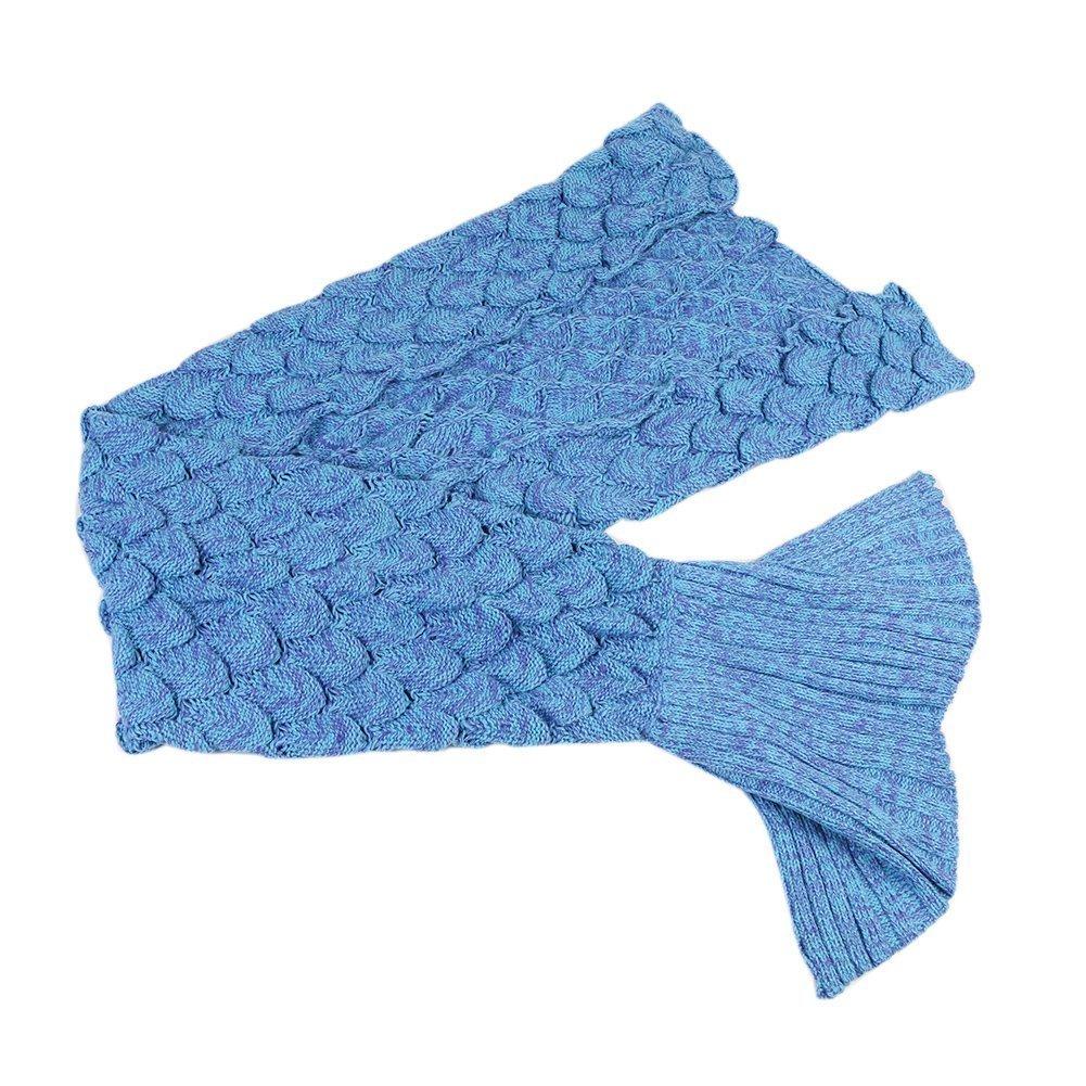 Manta Cola de sirena para niños, adolescentes o adultos, hecho a mano, mantas de onda de sirena, manta de croché, estaciones, sala de estar cálida, ...