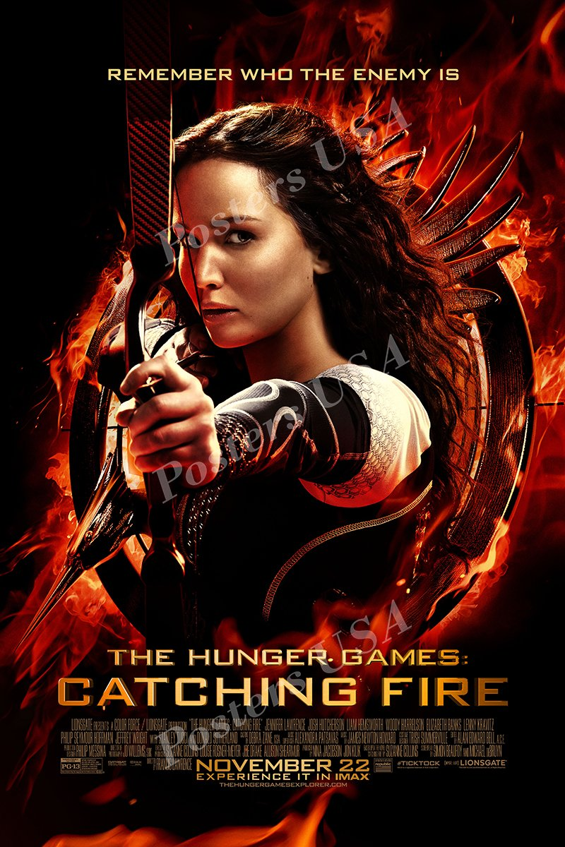 """Posters USA - The Hunger Games Catching Fire Movie Poster GLOSSY FINISH - MOV359 (24"""" x 36"""" (61cm x 91.5cm))"""