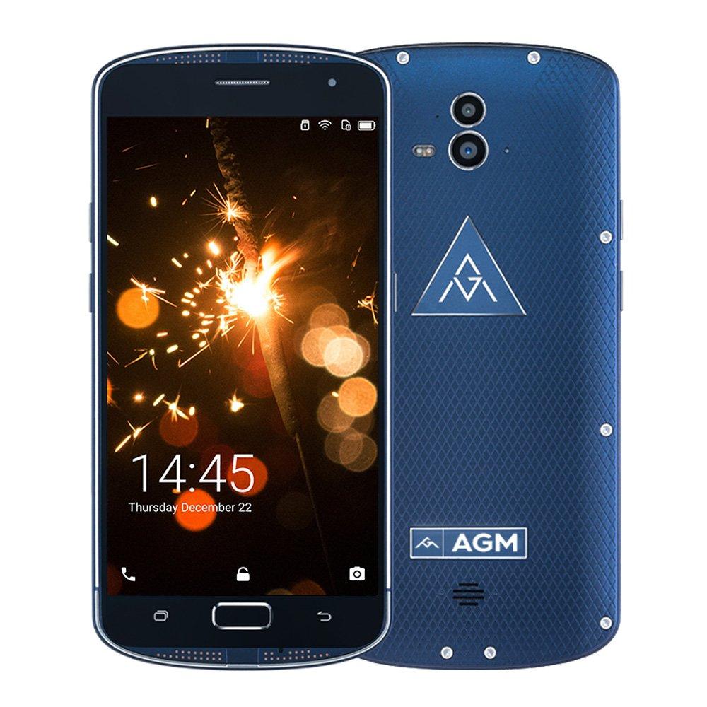 AGM X1 IP68 Smartphone 4G NFC GPS Android Super AMOLED 5.5 inch Screen Qualcomm Snapdragon 617 CPU 4GB RAM 64GB ROM 13MP Camera 5400mAh battery