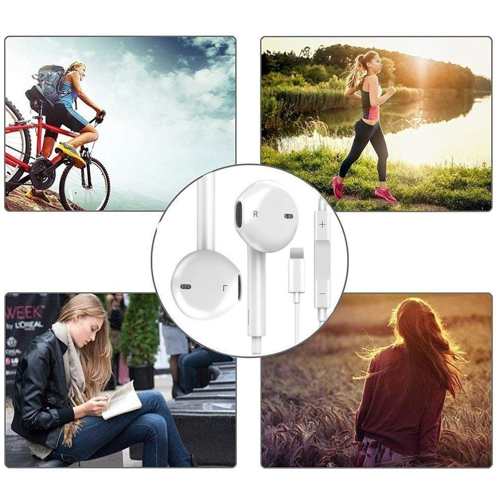 Lightning Earphones,With Microphone Earbuds Stereo Headphones and Noise Isolating headset Made for iPhone 7/7 Plus iPhone8/8Plus iPhone X Earphones,Support all iOS system by my-handy-design (Image #7)