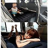 Coche inflable cama hinchable Camping Asiento Trasero Extended coche universal de coche cojín cama hinchable flocado colchón cama de aire para niños, azul