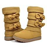 Amazon Price History for:Dream Pairs KLOVE Girls Knit Sweater Winter Fur Kids Boots