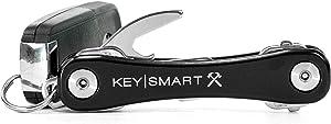 KeySmart Rugged - Multi-Tool Key Holder with Bottle Opener and Pocket Clip (up to 14 Keys, Black)