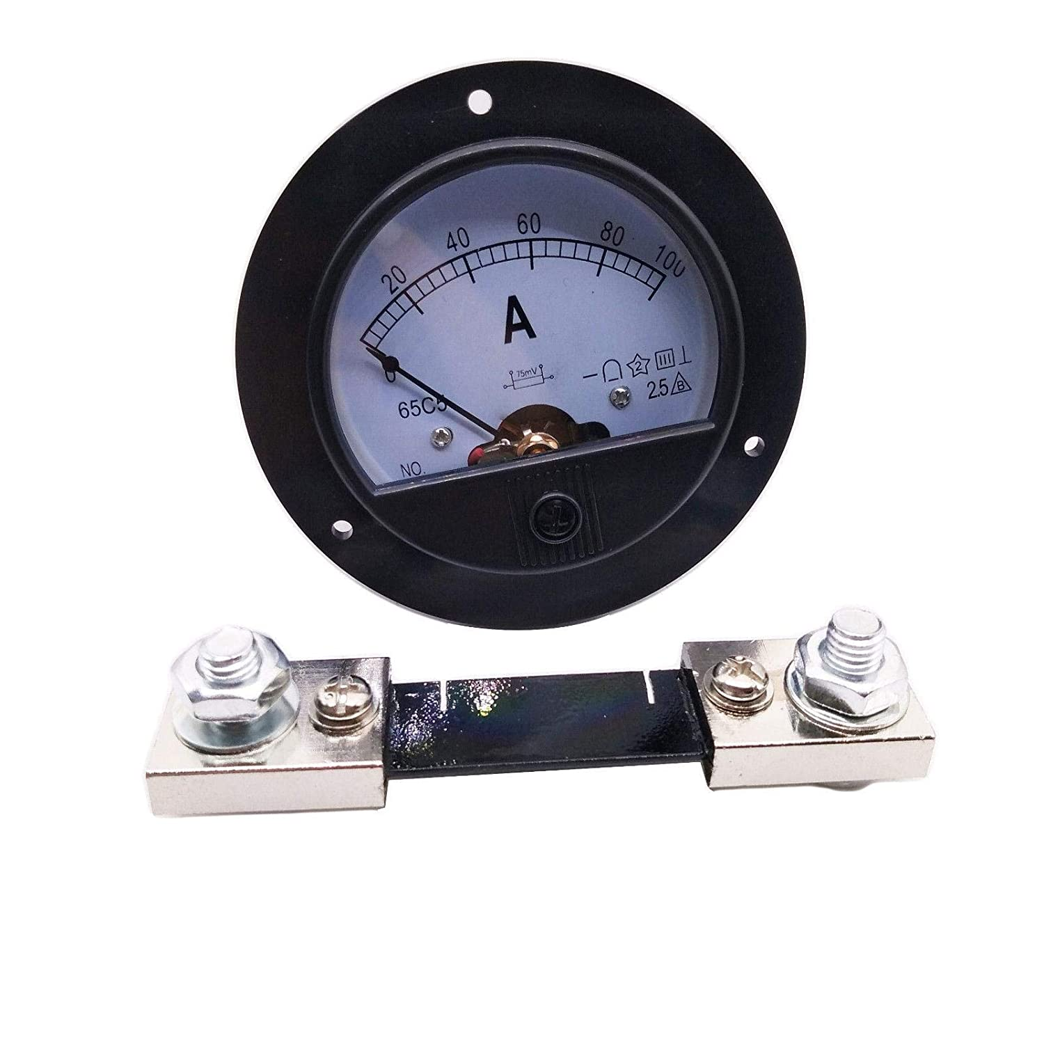 DC 0~100A Analog AMP Current Pointer Needle Panel Meter Ammeter and Shunt CGjiogujio
