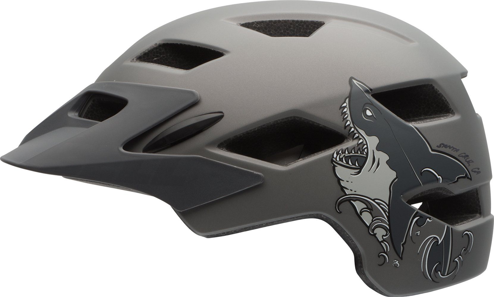Bell Sidetrack Youth Bike Helmet - Kid's Matte Titanium Shark