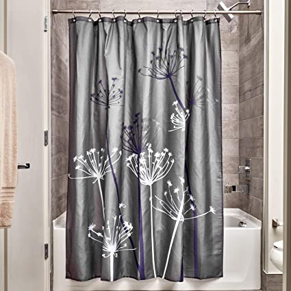 Amazon InterDesign Thistle Fabric Shower Modern Mildew