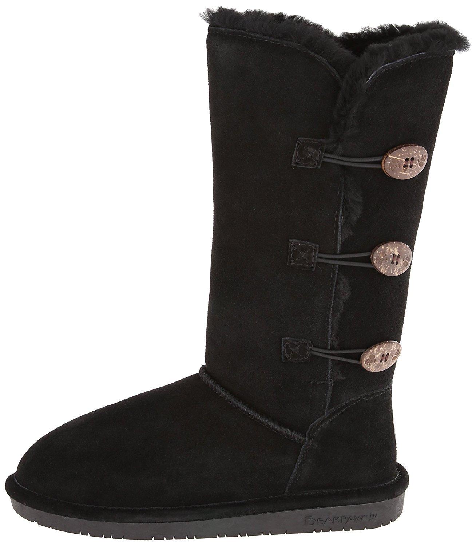 BEARPAW Women's Lauren Winter Boot B078WGNK84 5 B(M) US|Black.
