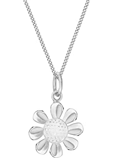 Tuscany Silver Sterling Silver 2 Tone Butterfly and Ball Chain Necklace of 56cm/22 sNYzj23