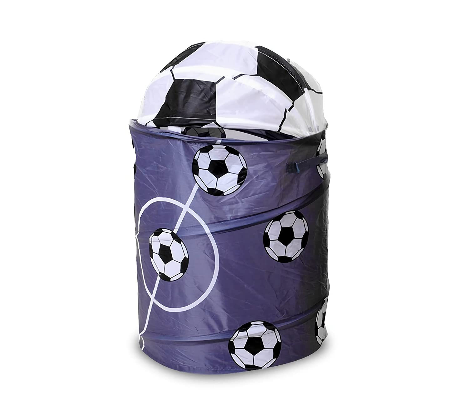 Media Wave Store/® Calcio 748235/Rack Games or collapsible Laundry Basket Metal Frame 63/x 37/cm