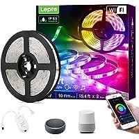 Lepro Smart ledstrip, 5 m, RGB, dimbaar, wifi, wifi, IP65 waterdicht, superhelder, zelfklevende lichtband, lichtketting…