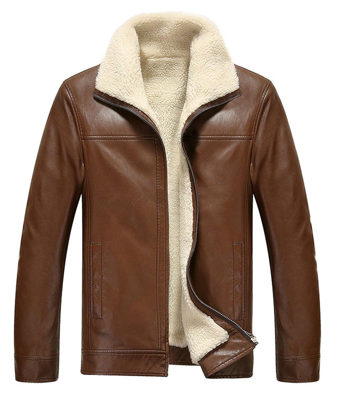 fantastic savings buying cheap really comfortable WSAZM Haute qualite Homme Hiver Épais Chaud Peau de mouton ...