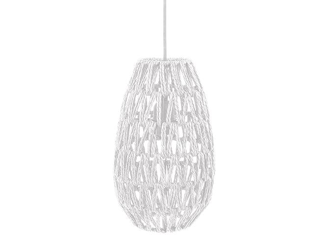 Leitmotiv - Lámpara de techo, papel, color blanco: Amazon.es ...