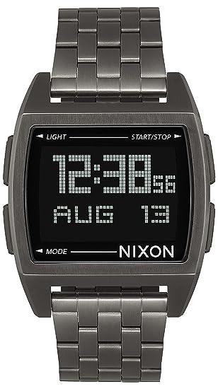 Nixon The Base Reloj para Hombre Digital de Cuarzo con Brazalete de Acero Inoxidable A1107632: Amazon.es: Relojes
