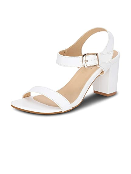 0466fef590f Get Glamr Women's White Sandals: Buy Online at Low Prices in India -  Amazon.in