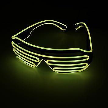 OS Leuchtbrille LED, farbintensiv und auffallend - Partyzubehör für ...