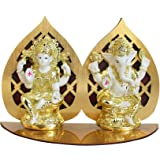 TIED RIBBONS Gold Plated Lakshmi Ganesha Idol for Diwali Home Decoration and Gifts(9.9 cm X 5.5 cm)