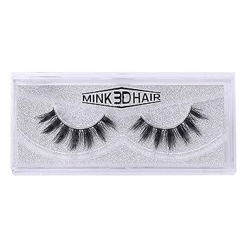 51350b4aa73 Amazon.com : Misright Beauty Makeup Long Soft 3D Mink Handmade False  Eyelashes Eye Lashes Extension : Beauty