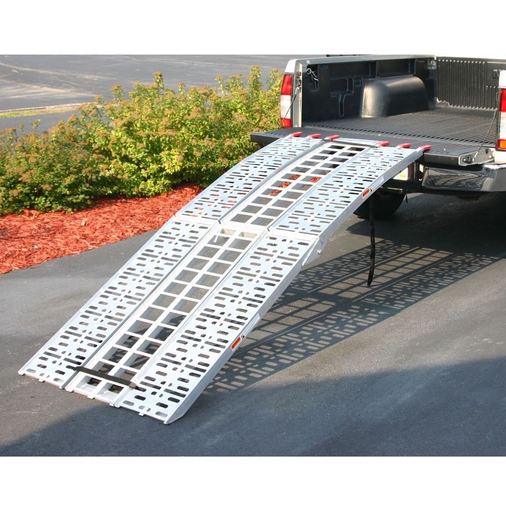 Black Widow 89'' Arched Folding Motorcycle Ramp System by Black Widow (Image #1)