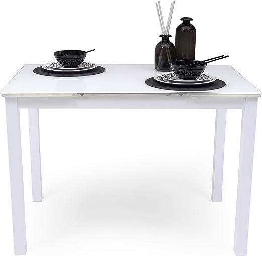 Homely Mesa de Cocina Extensible Paris Total White sobre de ...