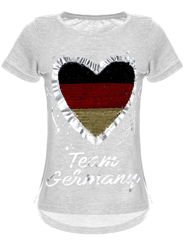 BEZLIT Mädchen T-Shirt Pailletten EM2020 Deutschland 22512