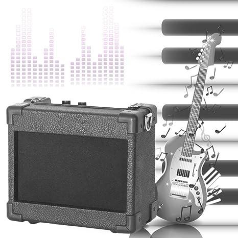 logicstring guitarra amplificador de guitarra AMP, 5 W Mini Micro Amp con 4 pulgadas Altavoz